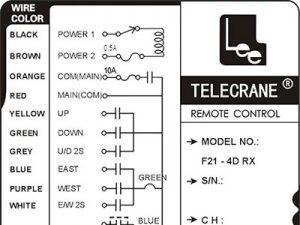 sơ đồ đấu điều khiển cầu trục từ xa F21-E1B