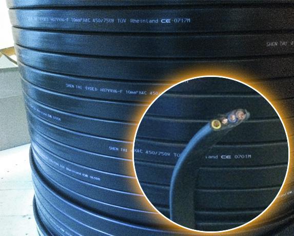 Dây cáp điện dẹt cầu trục shentai 4Cx10 mm2 (2)